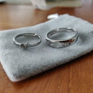 Adjustable Couple Ring Silver S925